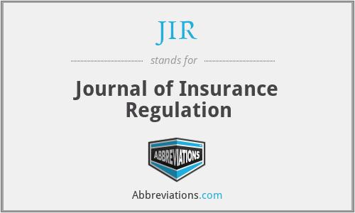 JIR - Journal of Insurance Regulation