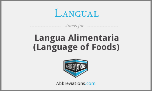 Langual - Langua Alimentaria (Language of Foods)