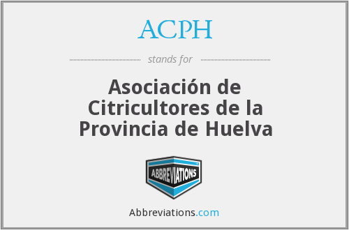 ACPH - Asociación de Citricultores de la Provincia de Huelva