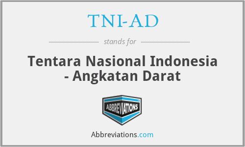 TNI-AD - Tentara Nasional Indonesia - Angkatan Darat