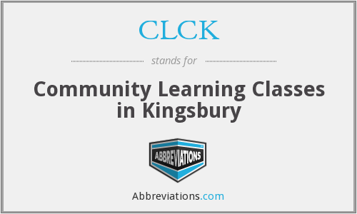 CLCK - Community Learning Classes in Kingsbury