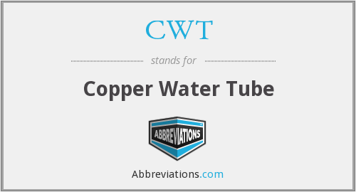 CWT - Copper Water Tube