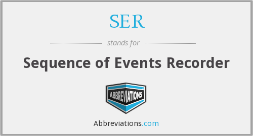 SER - Sequence of Events Recorder