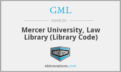 GML - Mercer University, Law Library (Library Code)