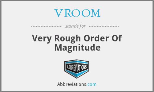 VROOM - Very Rough Order Of Magnitude