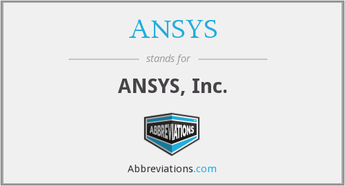 ANSYS - ANSYS, Inc.