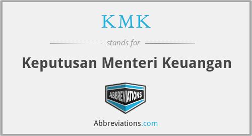 KMK - Keputusan Menteri Keuangan