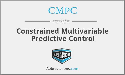 CMPC - Constrained Multivariable Predictive Control