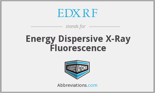 What does EDXRF stand for?