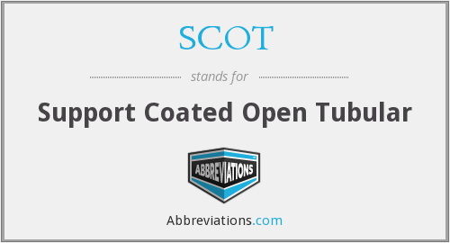 SCOT - Support Coated Open Tubular