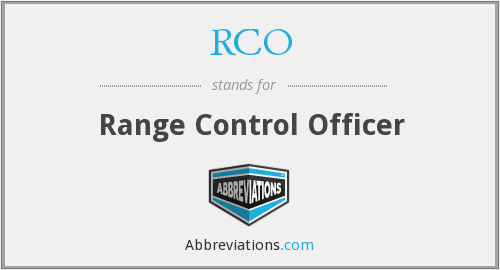 RCO - Range Control Officer