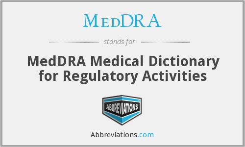 What does MEDDRA stand for?