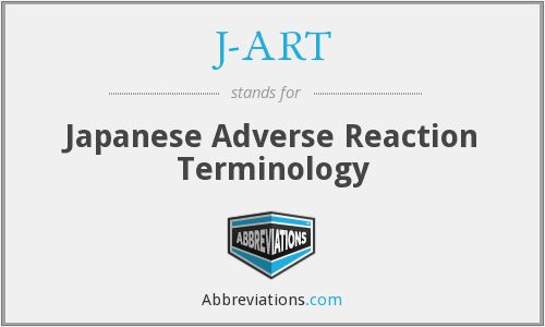 J-ART - Japanese Adverse Reaction Terminology