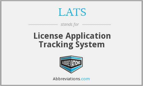 LATS - License Application Tracking System