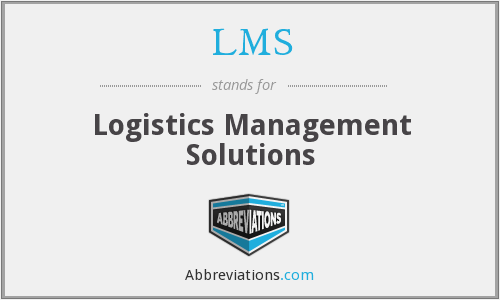 LMS - Logistics Management Solutions