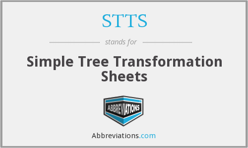 STTS - Simple Tree Transformation Sheets