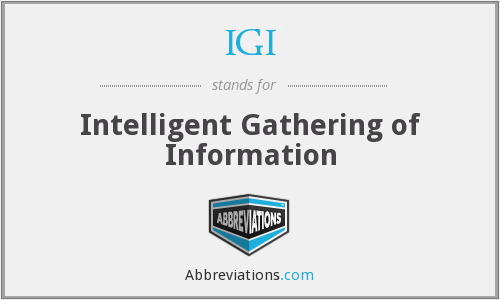 IGI - Intelligent Gathering of Information