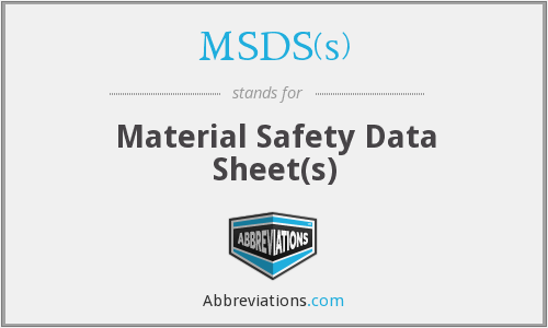 What does MSDS(S) stand for?
