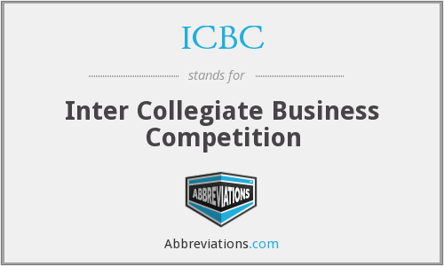 ICBC - Inter Collegiate Business Competition