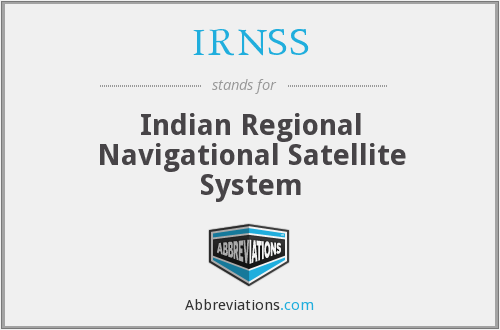 What does IRNSS stand for?