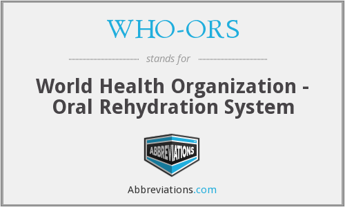 What does WHO-ORS stand for?