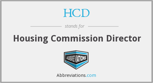 HCD - Housing Commission Director
