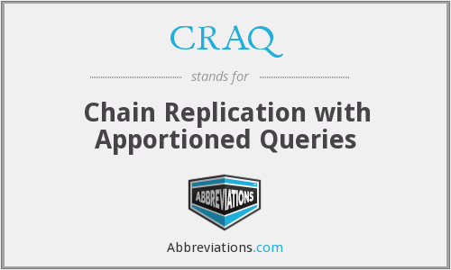 CRAQ - Chain Replication with Apportioned Queries
