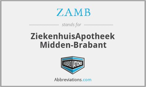 ZAMB - ZiekenhuisApotheek Midden-Brabant