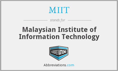 What does MIIT stand for?