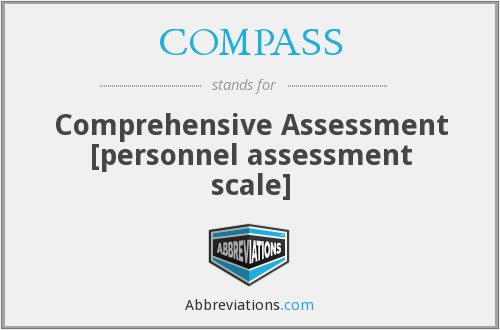 COMPASS - Comprehensive Assessment [personnel assessment scale]