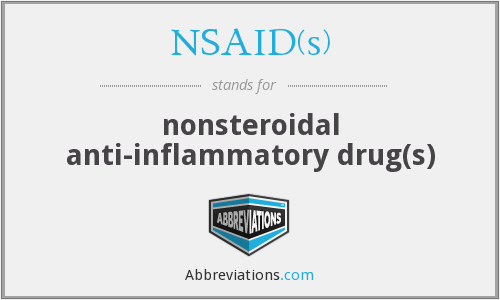 What does NSAID(S) stand for?