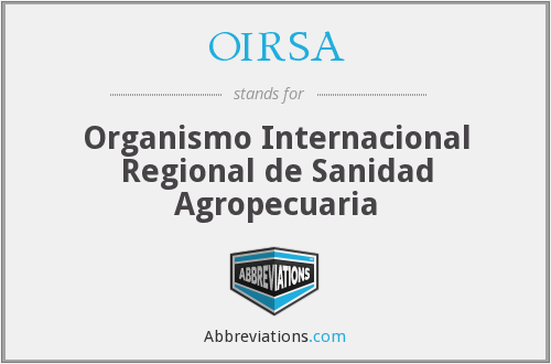 OIRSA - Organismo Internacional Regional de Sanidad Agropecuaria