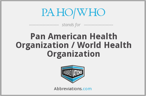What does PAHO/WHO stand for?