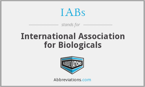 IABs - International Association for Biologicals