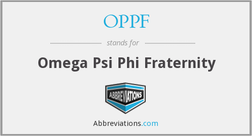 OPPF - Omega Psi Phi Fraternity