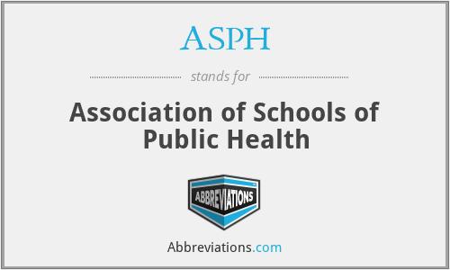 ASPH - Association of Schools of Public Health