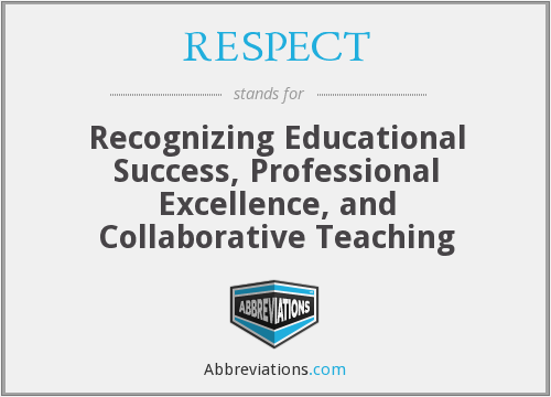 RESPECT - Recognizing Educational Success, Professional Excellence, and Collaborative Teaching