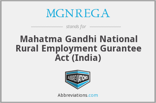What does MGNREGA stand for?
