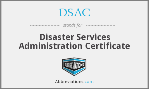 DSAC - Disaster Services Administration Certificate