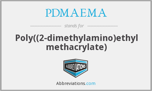 What does PDMAEMA stand for?