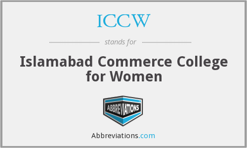 ICCW - Islamabad Commerce College for Women