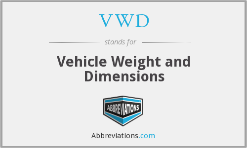 VWD - Vehicle Weight and Dimensions