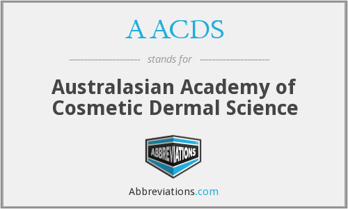AACDS - Australasian Academy of Cosmetic Dermal Science