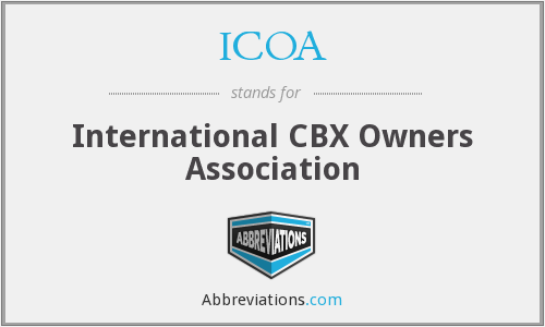 ICOA - International CBX Owners Association