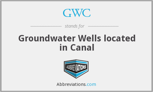 GWC - Groundwater Wells located in Canal