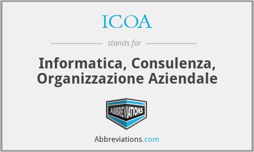 ICOA - Informatica, Consulenza, Organizzazione Aziendale