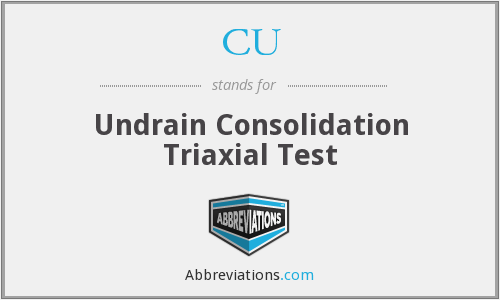 CU - Undrain Consolidation Triaxial Test