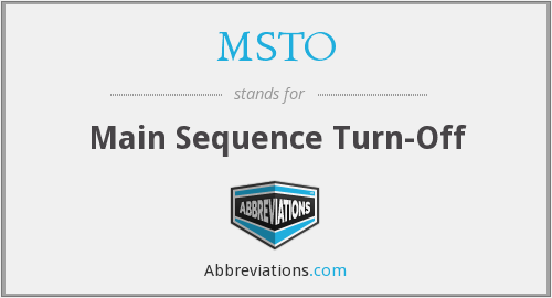 MSTO - Main Sequence Turn-Off