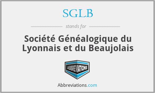 SGLB - Société Généalogique du Lyonnais et du Beaujolais