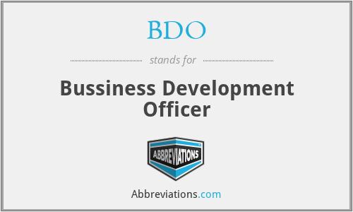 BDO - Bussiness Development Officer